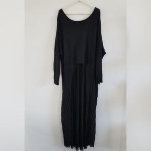 Millau | Hi Low Black Oversize Sweater